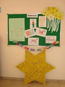 Board Showing Children's work on Holocaust.