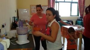 Parents preparing the smoothie